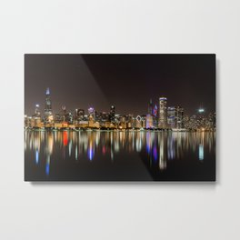 Chicago Champs Skyline Metal Print