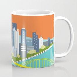 Pittsburgh, Pennsylvania - Skyline Illustration by Loose Petals Coffee Mug
