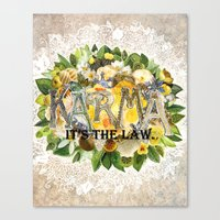 karma Canvas Prints featuring Karma by Jenndalyn