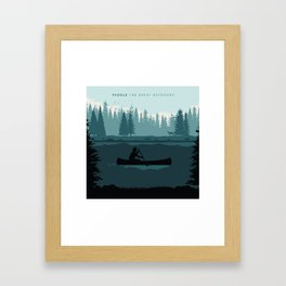 Paddle The Great Outdoors Framed Art Print