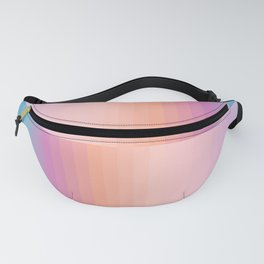 Staggered Rainbow Gradient Fanny Pack