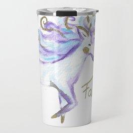 Cute Watercolour Unicorn Travel Mug
