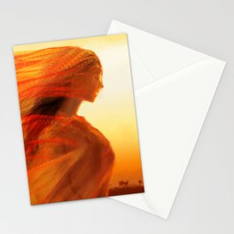 Fires of the Desert Stationery Cards
