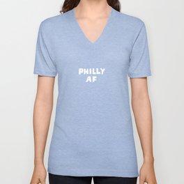 Philly AF (Blue) Unisex V-Neck