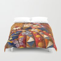 carnival Duvet Covers featuring carnival by Elena Trupak