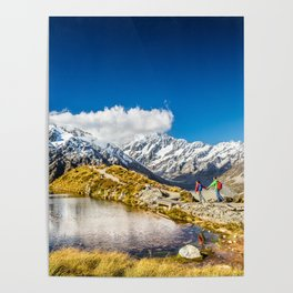 New Zealand Mount Cook Aoraki Poster