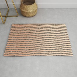 Zigzag Tan Gradient Rug