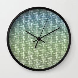 Woven Impression Green Wall Clock