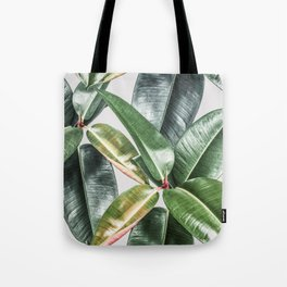 Tropical Leaves Green Lush Pattern | Lush Leaf Photography Tote Bag