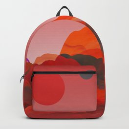 """Coral Pink Sci-Fi Mountains"" Backpack"