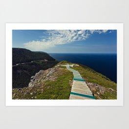 skyline walkway Art Print