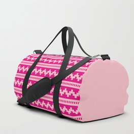 Pixel Pink Side Scroller Duffle Bag