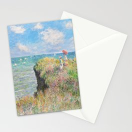 Cliff Walk at Pourville (1882) by Claude Monet Stationery Cards