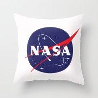 nasa Throw Pillows featuring I Need My Space NASA by NoHo