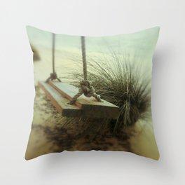 Beach Swing Throw Pillow