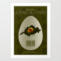 jurassic park Art Prints featuring Jurassic Park by ChrisAbles