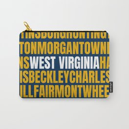 West Virginia Home Town Morgantown WV Pride Word Art Carry-All Pouch