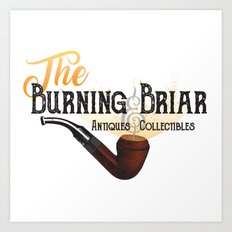 The Burning Briar Art Print