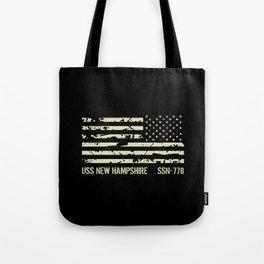 USS New Hampshire Tote Bag