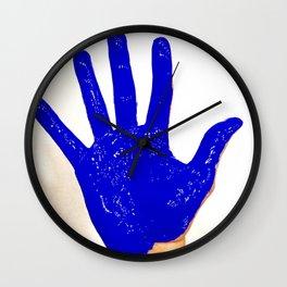 Blue Handed Wall Clock