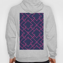 Bamboo Chinoiserie Lattice in Navy + Pink Hoody