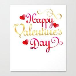 Valentine's Sublimation Happy Valentines Day Canvas Print