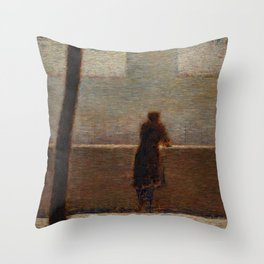 Man Leaning on a Parapet - Georges Seurat Throw Pillow