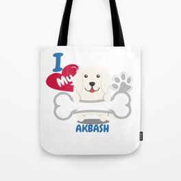 AKBASH Cute Dog Gift Idea Funny Dogs Tote Bag