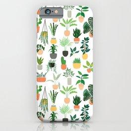 Houseplants pattern 1 iPhone Case