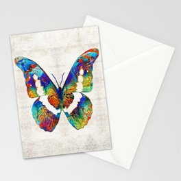 Colorful Butterfly Art by Sharon Cummings Stationery Cards