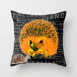 Slimey T. Throw Pillow