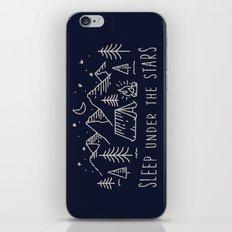Sleep under the stars iPhone Skin
