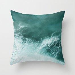 Ocean Roar Throw Pillow