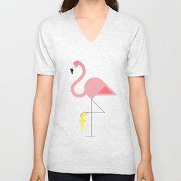 F for Flamingo Unisex V-Neck