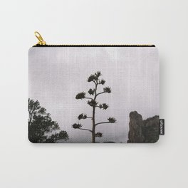 Lone Tree on Foggy Mountain Top Carry-All Pouch
