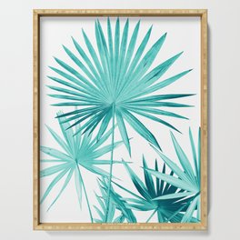 Fan Palm Leaves Jungle #3 #tropical #decor #art #society6 Serving Tray