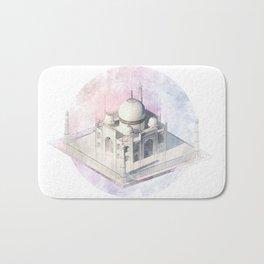 Agra Taj Mahal - axonometric Bath Mat