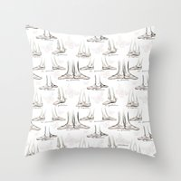 ballet Throw Pillows featuring Ballet by Moira Birch Swiatkowski