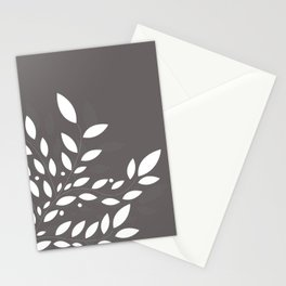 armonia 2 gray leaves Stationery Cards