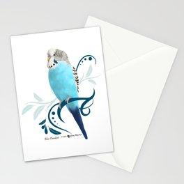 Blue Parakeet Stationery Cards