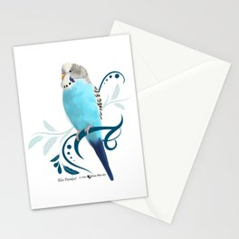 Blue Parakeet Stationery Cards