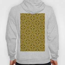 Moroccan pattern, Morocco. Patchwork mosaic with traditional folk geometric ornament black gold. Hoody