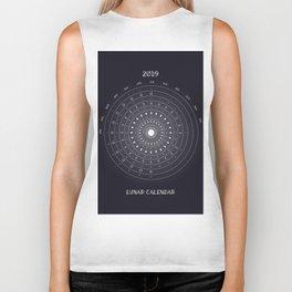 2019 Lunar Phases Calendar Biker Tank