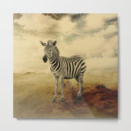 MAGIC ANIMALS : ZEBRA Metal Print