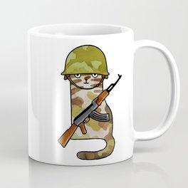 Infantry Fighter Cat Coffee Mug
