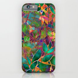 Floral Abstract Stained Glass G176 iPhone Case
