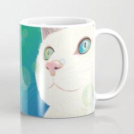 Odd-eyed White Cat Coffee Mug