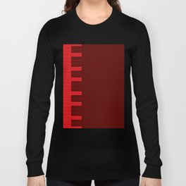 Red Piano Keys Long Sleeve T-shirt