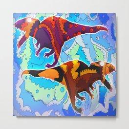 Dinosaur Collaboration Metal Print