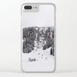 White Winterscapes III Clear iPhone Case